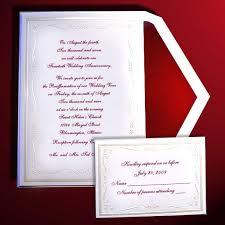 40th anniversary invitations pearl embossed wedding anniversary invitations item be9106