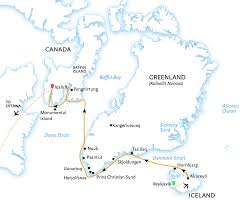 Baffin Bay On World Map by Iceland Greenland And Baffin Island Arctic Circle Traverse