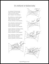 printable lyrics un elefante se balanceaba lyrics and activities spanish playground