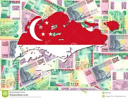 Map Of Singapore Map Of Singapore With Currency Royalty Free Stock Photos Image