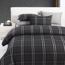 Manly Bed Sets Modern Boys Leisure Black And Grey Plaid Bedding Sets Manly Duvet
