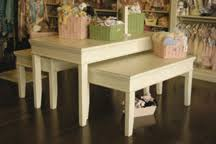 display tables for boutique retail store fixtures shabby chic display fixtures misc display 1