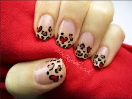 heart leopard nail art youtube
