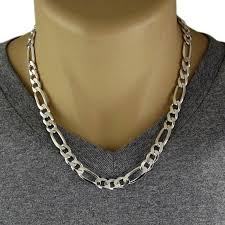 figaro chain silver necklace images Men 39 s 925 sterling silver figaro chain necklace 250 jpg