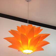 Lotus Pendant Light Flowers L Pendant Light Material Of Pvc 58cm Lotus Shape Diy