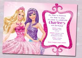 Online Birthday Invitation Card Maker Free Barbie Birthday Invitation Samples Invites Pinterest Barbie