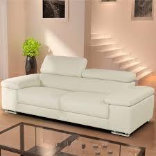 living room nicoletti lipari cream italian leather 3 seater sofa