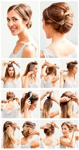 easy hairstyles for medium length hair step by step 147 best up dos images on pinterest hairstyles make up and chignons