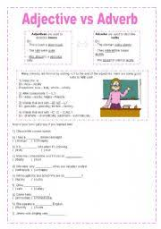 Adjectives And Adverbs Worksheet Worksheets The Adverbs Worksheets Page 35