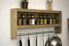 rustic wooden spice rack spice rack ikea shelf pot rack metal
