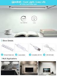 brightest led strip light qooltek portable usb 30led 3 5w reading strips craft light eye