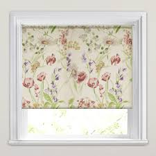 Pink Kitchen Blinds Wild Meadow Country Kitchen Window Patterned Roller Blinds