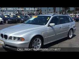 bmw 525i sport for sale 2002 bmw 5 series 525i 4dr sport wagon for sale in san diego