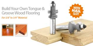 flooring router bit set with nail slot for 5 8 3 4 material