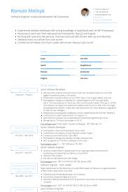 resume for software developer senior software developer resume samples visualcv resume samples