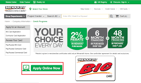 apply for menards credit card check application status