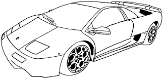 sports car coloring pages printable cars glum