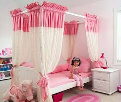Girls Pink Bed by Cute And Romantic Pink Bed Canopy Modern Wall Sconces And Bed Ideas