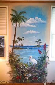 12 best my trompe l oeil murals images on pinterest entrance this tropical mural with an ibis and driftwood livens up the walls at the end of