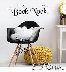 book nook decal wall art vinyl sticker book nook nursery decor zoom