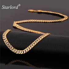 long yellow gold necklace images Hiphop yellow gold color two tone chains for men fashion jewelry jpg