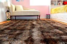 Fur Area Rug Modern Faux Rectangle Leather Fur Sheepskin Rugs Ebay