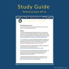 are study guides who will get it for us study guide for deuteronomy 30 12