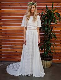 camelia 2 piece bohemian wedding dress dreamers and lovers
