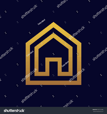 modern linear house logo real estate stock vector 561912586