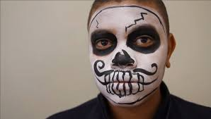 tutorial easy boy sugar skull face paint youtube