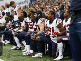 texans kneel in protest after bob mcnair s inmate comments