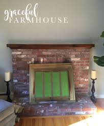 whitewash fireplace farmhouse interior design and decorating