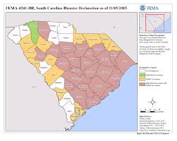 Map Of South Carolina Counties South Carolina Severe Storms And Flooding Dr 4241 Fema Gov