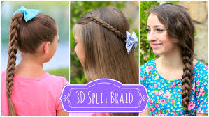 show me some hairstyles 3d split braid three different looks cute girls hairstyles
