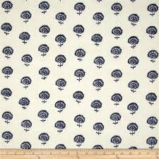 robert allen home hand flora indigo discount designer fabric