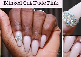 notd blinged out pink nail art stella u0027s addiction