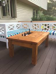 Decorative Coolers For The Patio by Ana White Patio Table With Built In Beer Wine Coolers Diy