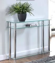 Clear Console Table Buy Glass Console Table Top Ireland Clear Black Chrome Legs Tier