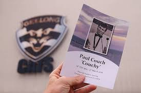 Memorial Booklet Paul Couch Memorial Service Photos And Images Getty Images