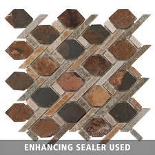 mixed diamond decorative slate mosaic slate mosaics and diamond