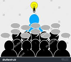 gathering ideas leader stock vector 130589387