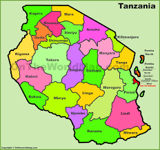 Map Of Tanzania Africa by Tanzania Regions Map