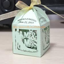 bride groom wedding favor boxes paper box single laser cut mr u0026 mrs wedding cupcake favor box in