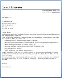 administrative assistant cover letter report writing lecture cover letter administrative