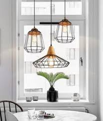 How To Install A Hanging Light Fixture Vintage Industrial Metal Cage Pendant Light Hanging L Edison