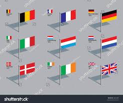 What Colors Are The German Flag Flags First 9 Countries Eu Belgium Stock Vektorgrafik 4407685