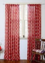 Curtains Printed Designs Red Window Curtains Printed Curtains Drapes Panels By Ichcha
