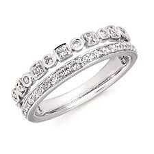 stackable diamond rings 14k white gold stackable diamond rings z s jewelry