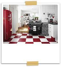 Red Black White Kitchen - black and red kitchen