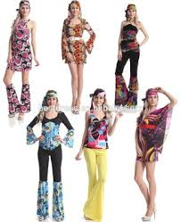 instyles ladies hippie go go 1960s 70s hippy fancy dress